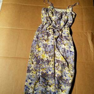 Banana Republic Pure Silk Maxi Dress. S